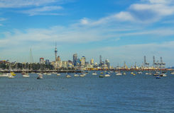 看法向从使命海湾的奥克兰市-新西兰 免版税库存照片