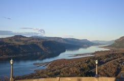 看法哥伦比亚河峡谷俄勒冈。 图库摄影