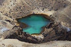看法在一个鲜绿色湖 免版税库存照片