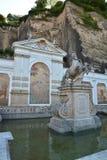看法在历史名城萨尔茨堡,奥地利 库存图片