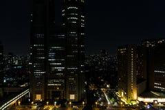 看法在夜东京 免版税图库摄影