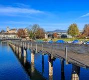 看法在拉珀斯维尔,瑞士 免版税库存图片