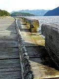 绳索看法在船坞的Egmont的, BC 免版税库存图片
