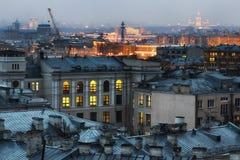 看法在莫斯科市 免版税库存图片