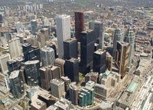 看法在街市的多伦多 免版税库存图片