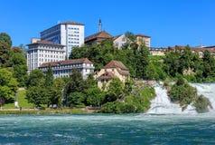 看法在诺伊豪森,瑞士 库存照片