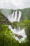 看法在Plitvice湖 免版税图库摄影