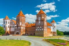 看法城堡Mir在白俄罗斯 免版税图库摄影