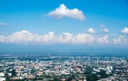 看法城市风景-清迈,泰国 免版税库存图片