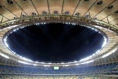 看法奥林匹克体育场(安全委员会Olimpiysky)在Kyiv,乌克兰 库存图片