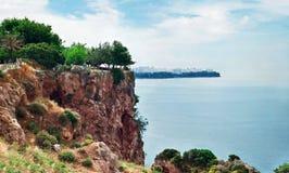 看法安塔利亚海岸线(土耳其) 免版税图库摄影
