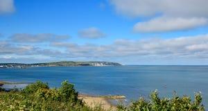看法对海英国海边 库存图片