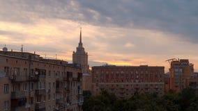 看法对莫斯科法院和在高层建筑物在清早 影视素材