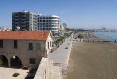 看法散步Phinikoudes 塞浦路斯 库存照片