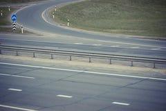 看法特写镜头细节一条遥远的高速公路路的 库存照片