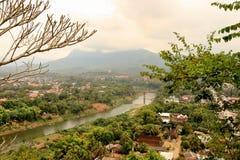 看法琅勃拉邦(老挝) 免版税图库摄影