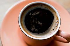 看法的土耳其咖啡关闭 库存图片