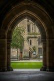 看法通过曲拱格拉斯哥大学 免版税库存照片