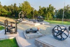 看法采矿设备XVIII-XX世纪在Nizhny Tagil 免版税库存照片