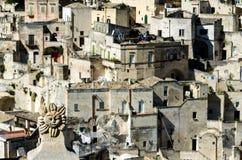 看法马泰拉(巴斯利卡塔,意大利) 免版税库存图片