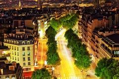 巴黎看法从凯旋门的。Defans Area.Paris。Fran 库存图片