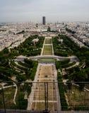 巴黎看法从艾菲尔铁塔的 免版税库存照片
