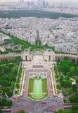 巴黎看法从艾菲尔铁塔的 免版税库存图片