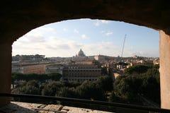 看法从Castel sant'angelo到cappella sistina 免版税图库摄影