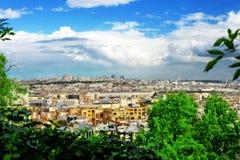 巴黎看法从Montmartre.Paris小山的。 免版税图库摄影