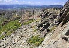 看法从Tiyahty的顶端阿尔泰山 库存图片