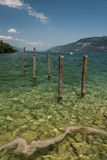 看法Bourget湖(阿尔卑斯,开胃菜,法国) 库存照片