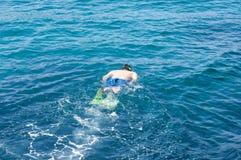 看海底 免版税库存照片