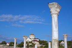 看看圣弗拉基米尔大教堂在Chersonesos 免版税库存图片