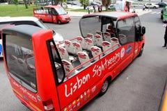 看见公共汽车的视域 免版税库存图片
