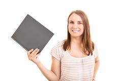 看见我的笔记和文字 库存图片