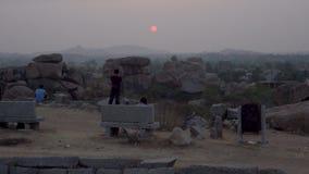 看见日落在印度 影视素材