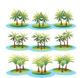 看见有棕榈树的海岛 免版税库存图片