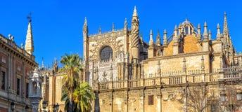 看见的圣母玛丽大教堂 塞维利亚西班牙 免版税库存图片