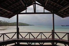 看见从阳台的海滩 库存照片