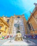 看见Catedral de圣玛丽亚de l的圣玛丽大教堂  图库摄影