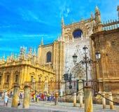 看见Catedral de圣玛丽亚de l的圣玛丽大教堂  免版税图库摄影