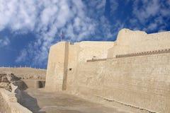 看起来巴林的堡垒南部往西方的墙壁 图库摄影