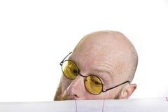 看建筑师图画的人 免版税库存照片
