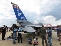 看F-16引擎 免版税库存图片