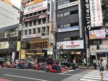 真实生活超级mariogo-karting在东京 免版税库存照片