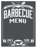 真正南部的烤肉菜单设计 库存照片