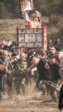 真正灯笼的费斯特的海达族幸福 免版税库存照片