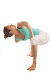 年轻真正瑜伽辅导员实践 库存照片