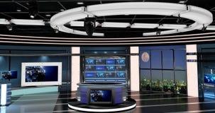 真正电视新闻设置了27 免版税库存照片
