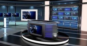 真正电视新闻设置了27 免版税库存图片